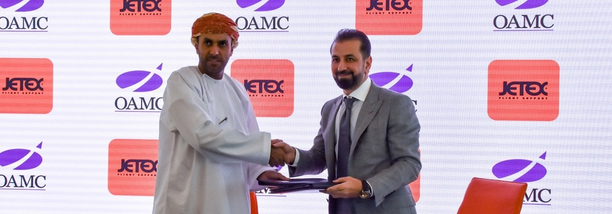 Jetex and OAMC Signing Ceremony Dubai Airshow 2